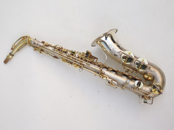 Saxophone soprano Dolnet Artiste argenté sablé plaqué or (5)