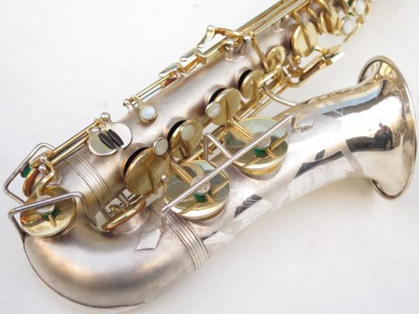Saxophone soprano Dolnet Artiste argenté sablé plaqué or (6)