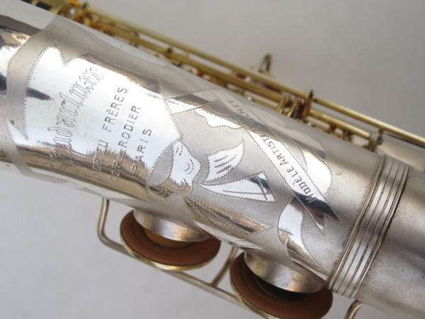Saxophone soprano Dolnet Artiste argenté sablé plaqué or (7)