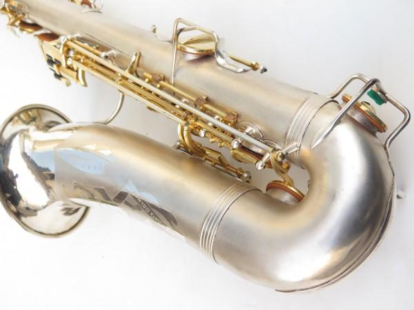 Saxophone soprano Dolnet Artiste argenté sablé plaqué or (8)